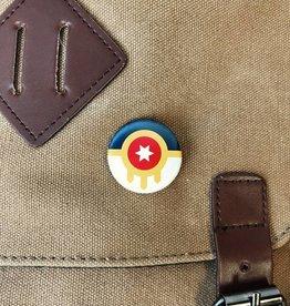 "Ida Red Tulsa Flag 1.25"" Button"