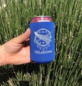 Ida Red Oklahoma Flag Koozie