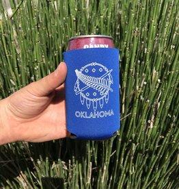 Ida Red Oklahoma Flag Koozie