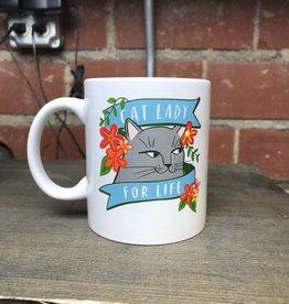 Ida Red Cat Lady Mug