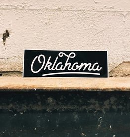 Ida Red Oklahoma Script Sticker, Black