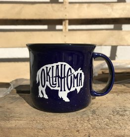 Ida Red Campfire Bison Navy Mug