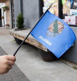 """Souvenirs 4""""x6"""" Oklahoma Stick Flag"""