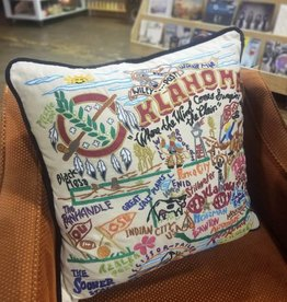 Ida Red Oklahoma Pillow Black Piping