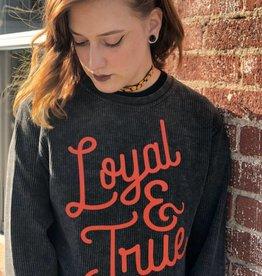 Ida Red Loyal and True Corded Crew Sweatshirt