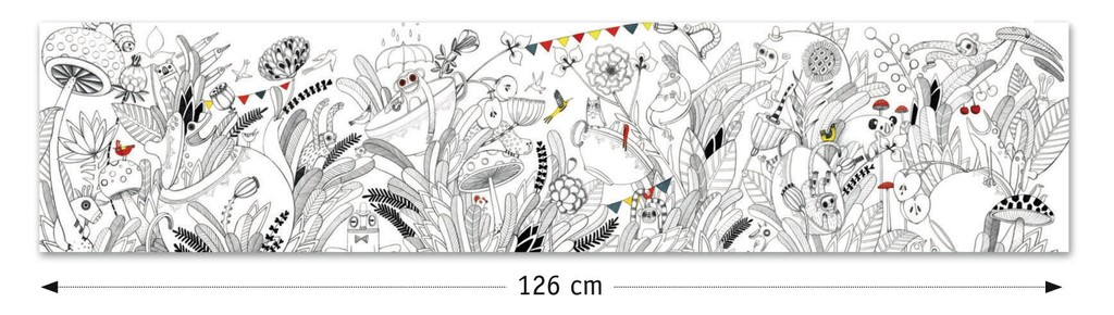 Butterfly Ball Extra-Long Colouring Sheet