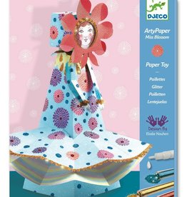 Miss Blossom Paper Toy & Glitter