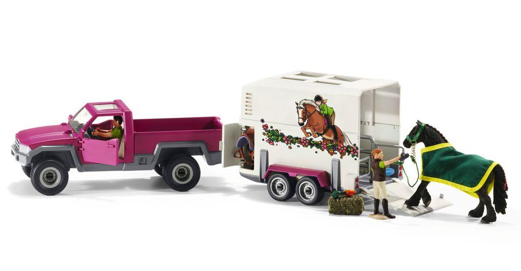 Schleich Pick Up Truck with Horse Trailer