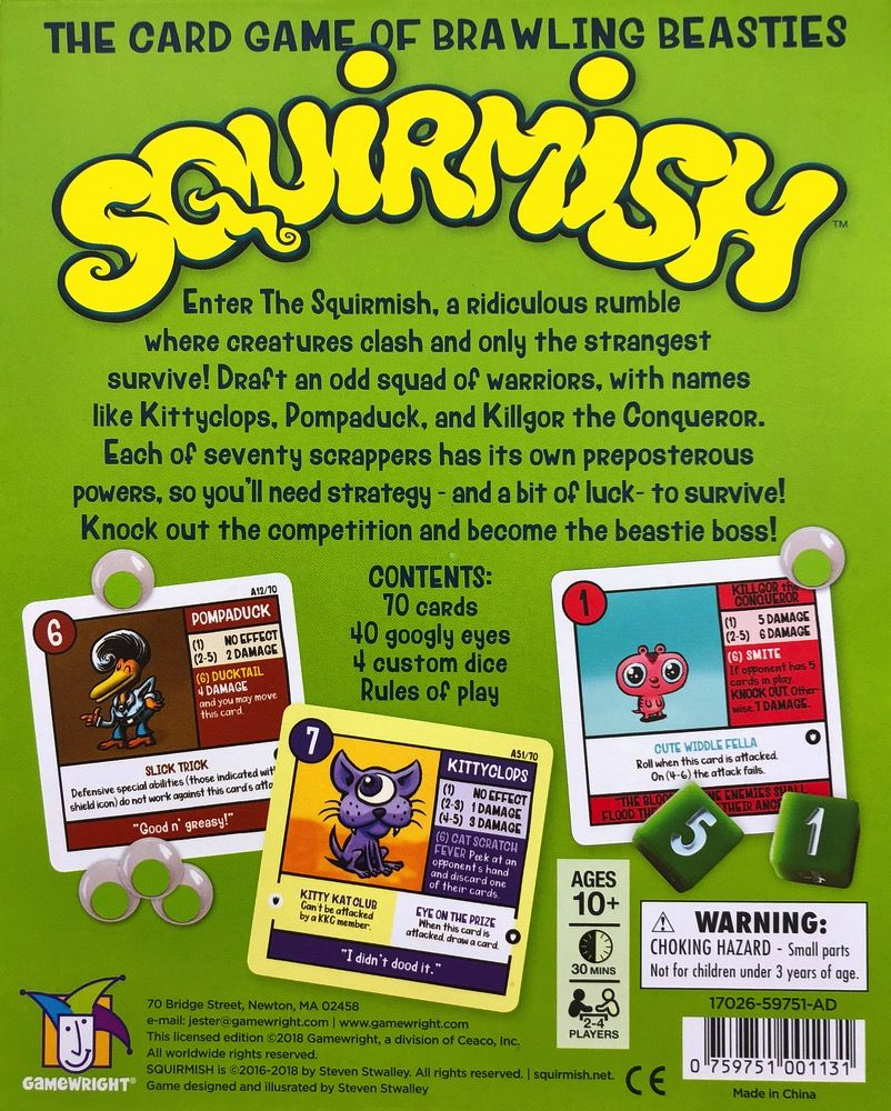 Squirmish Card Game