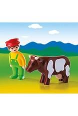 Playmobil 123 - Farmer with Cow