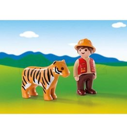 Playmobil 123 - Gamekeeper with Tiger