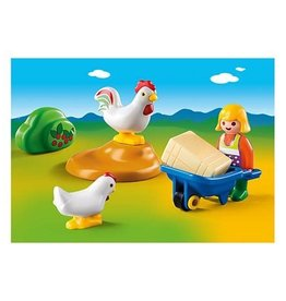 Playmobil 123 - Girl with Hens