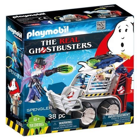Playmobil Ghostbusters - Spengler with Cage Car