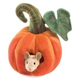 Mouse in Pumpkin Puppet