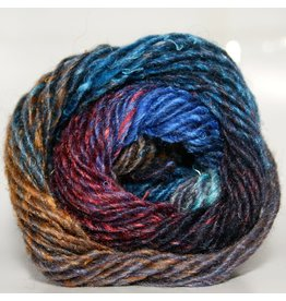 Noro Silk Garden, Blue, Lime, Brown, Black color 377 (Discontinued)
