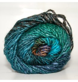 Noro Silk Garden, Blue, Green, Black, Brown color 369 (Discontinued)
