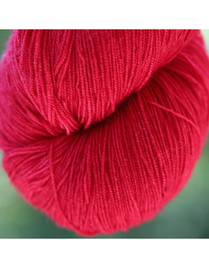 Black Trillium Fibres Silken Lace, Better Off Red