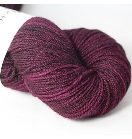 Knitted Wit Targhee Shimmer Worsted, Beaujolais