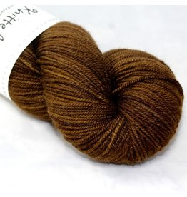 Knitted Wit Targhee Shimmer Worsted, Brown Sugar