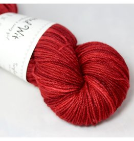 Knitted Wit Targhee Shimmer Worsted, Paprika
