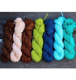 Knitted Wit Simee Dimeh Shawl Kit, Coastal Stars