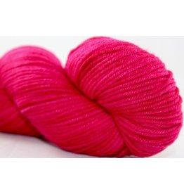 Knitted Wit Targhee Shimmer Worsted, Liberally Bleeding Heart