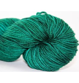 Knitted Wit Targhee Shimmer Worsted, Emerald Sea