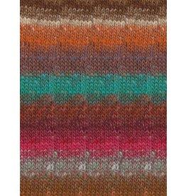 Noro Silk Garden Sock, Persian Orange Color 418