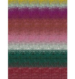 Noro Kureopatora, Reds, Pink, Hunter Green Color 1028