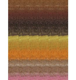 Noro Kureopatora, Chocolate, Orange, Pink Color 1031