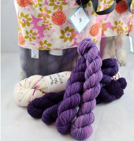 For Yarn's Sake, LLC Bloom Where Planted Shawl Kit - Hyacinth