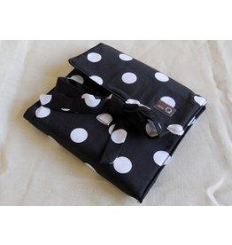 della Q The Que Cotton Circular Needle Case, B&W Polka Dot