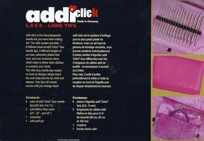 addi addi Lace Click Long Tip Set