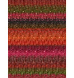 Noro Silk Garden Sock, Orange, Red, Pink color 84