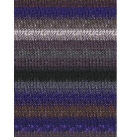 Noro Silk Garden Sock, Grey, Black, Purple color 358