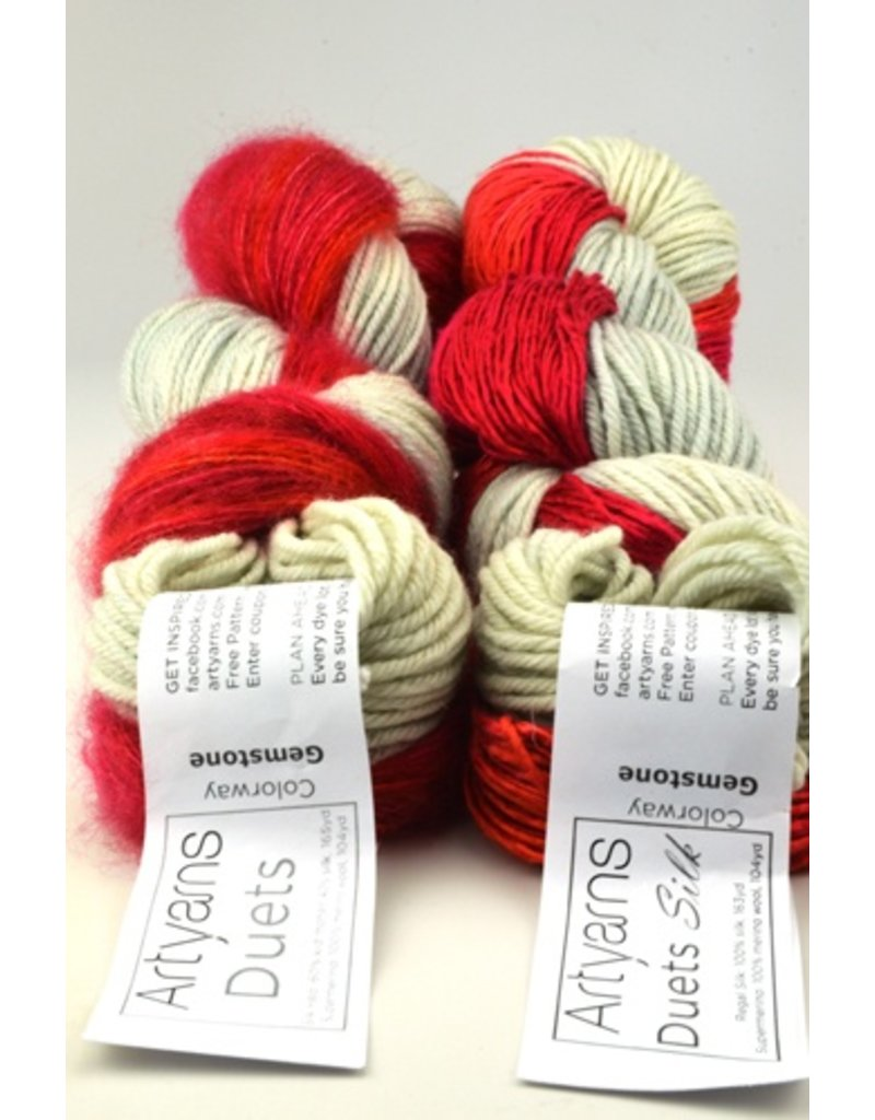 Art Yarns Duets Silk Kit, Gemstones