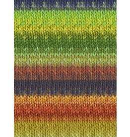 Noro Silk Garden, Lime, Navy, Rust, Gold color 403