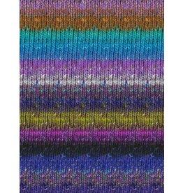 Noro Silk Garden Sock, Purples, Green Grey color 411