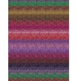 Noro Silk Garden Sock, Peach, Pink, Purple Color 415