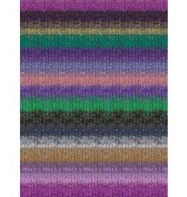 Noro Silk Garden Sock, Purple, Grey, Green Color 420