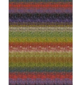 Noro Silk Garden Sock, Olive, Red, Purple Color 424