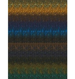 Noro Silk Garden, Bright Blue, Brown, Gold, Navy color 394 (Discontinued)