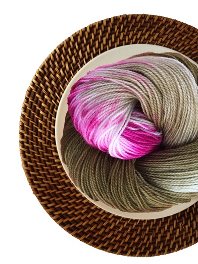 Delicious Yarns Sweets Fingering, Mocha Raspberry