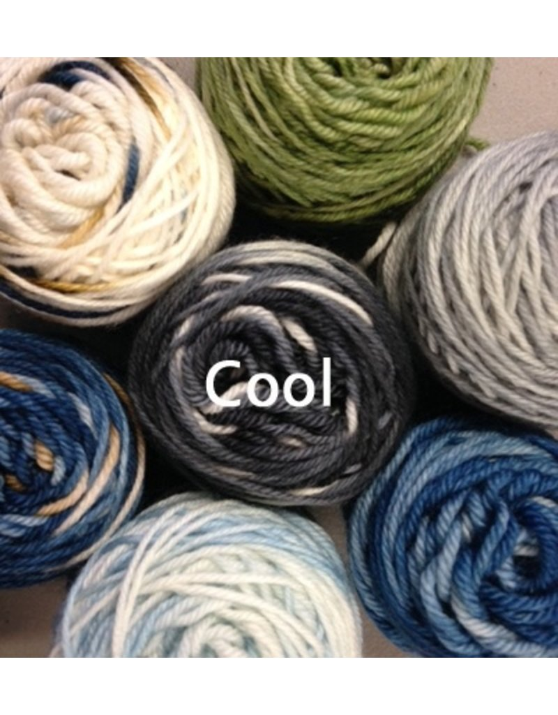 Delicious Yarns Sampler Cowl Kit, Cool