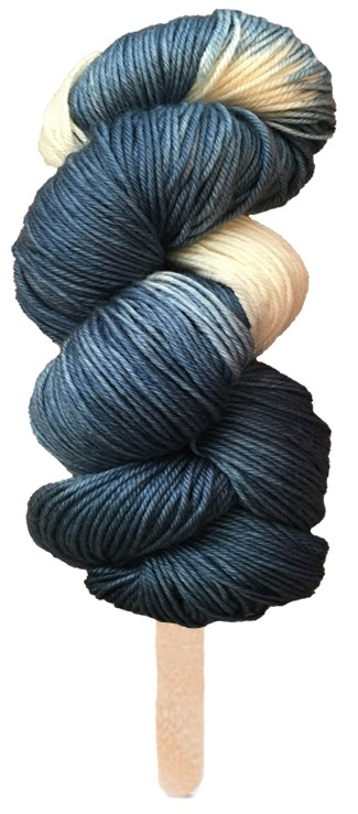 Delicious Yarns Swirl Fingering, Blueberry