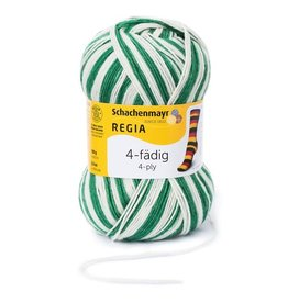 Schachenmayr Regia 4-ply, Green & White, Color 5389