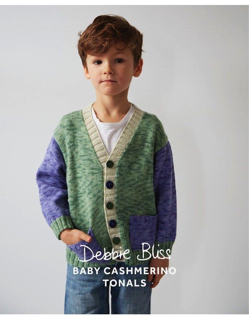 Debbie Bliss Baby Cashmerino Tonals - Colour Block Cardigan
