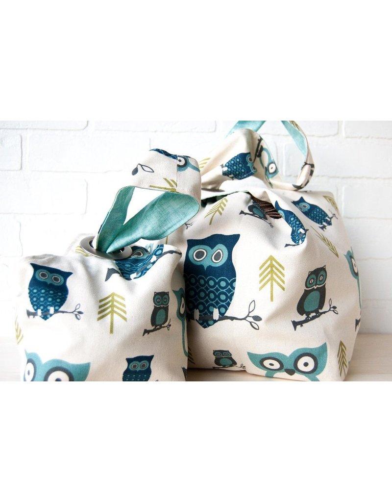 Binkwaffle Dumpling Bag - Large, Hooty Blue