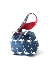 Binkwaffle Dumpling Bag - Small, Flamingos