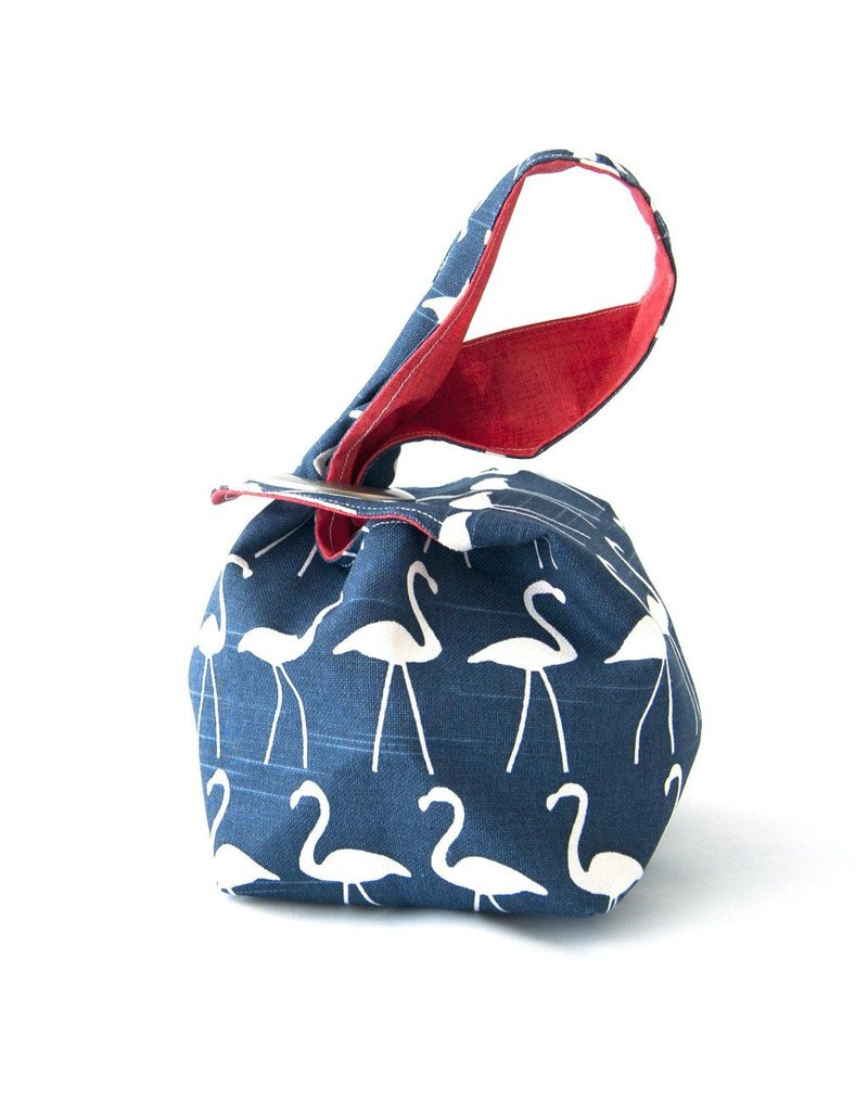 Binkwaffle Dumpling Bag - Small, Flamingos